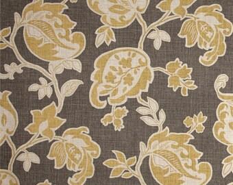 Custom made Designer fabric shower curtain Magnolia Arabella Barley