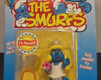 The Smurfs Smurfette Real Life Arm Action New on Card