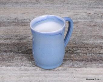Blue and White Mug Hand Thrown Ceramic Mug. Hot Coffee Mug. Tea Mug. Chai Mug. Espresso Cup