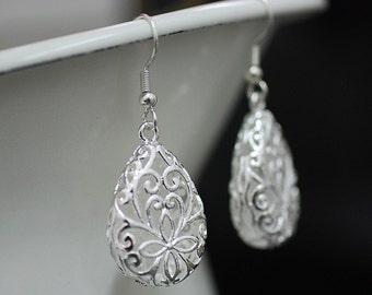 Monastery Silver Plated Vintage Earrings