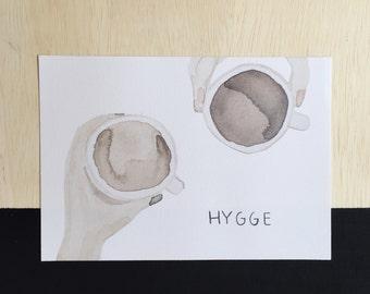 HYGGE watercolor print