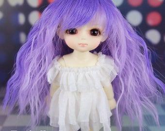 "Fatiao - Dollfie Lati Yellow Pukifee 5-6"" Doll Wig - violet & blue purple"