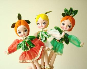 Misty Mistletoe doll, 1950s Christmas doll, decorative vintage doll, Calverts for Beauty, novelty big-eyed holiday doll, your choice of 1