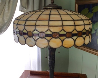 Leaded Glass Lamp Etsy