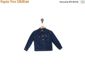 BTS SALE Vintage 90s AMERICAN Girl Indigo Blue Denim Button Up Jacket women small grunge biker preppy indie hipster retro boho Americana soc