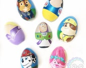 easter eggs custom personalized wooden egg single character egg handpainted wood egg swd peggs