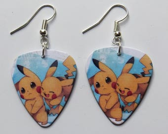 Pokemon Pikachu guitar picks earrings