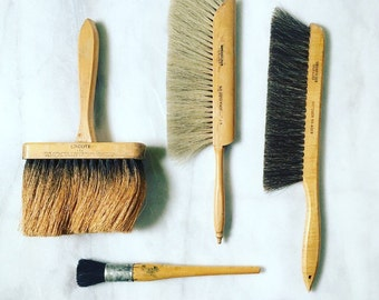 Antique Paint Brush, Drafting Brush Lot of 5
