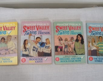 Vintage 4 Sweet Valley Twins Paperback Books - No. 49 52 55 56