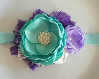 Purple-y mint headband