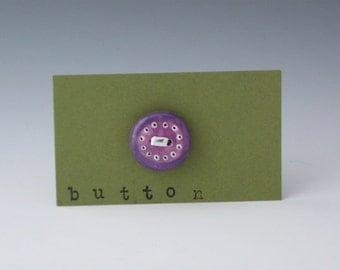 Ceramic Buttons, Buttons, Children Buttons, Purple Buttons