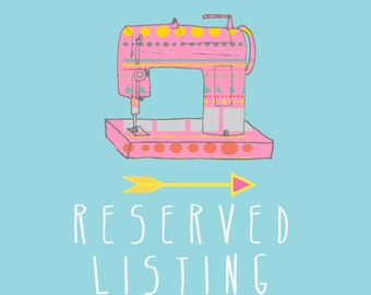 RESERVED listing especially for Lisa