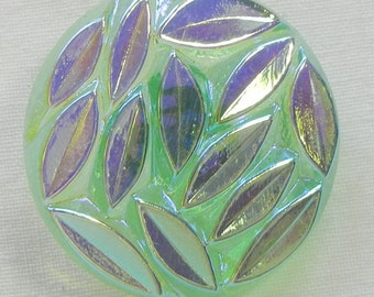 Scattered Leaves Czech Glass Button