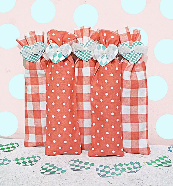 Baby Shower Party Favors 10 Candy Bags Fabric Treat Bags Teacher Gifts Party Favor Goody Bags Valentine Party Favors Baby Shower Decorations