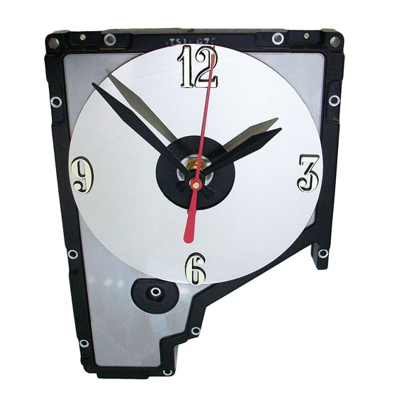 Early 1980s Hard Drive Cover Wall Clock Cool Office Gift