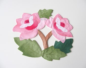 Pink Flower Doily Table Mat Decoration British Vintage