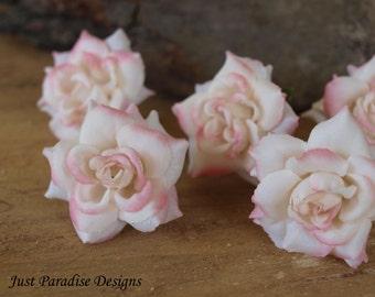 Hair Pins - Mini English Rose - Set of 6 - Light Pink
