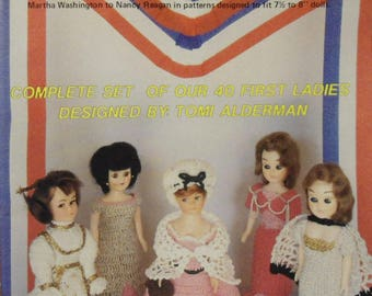 1985 First Lady Dolls Crochet Doll Clothes Patterns