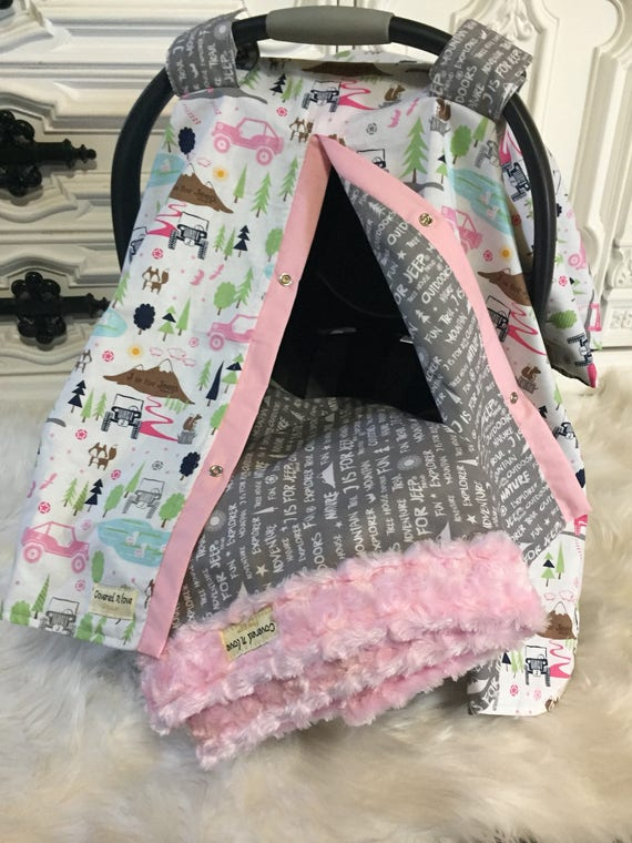 Baby blanket , add a matching blanket to any car seat canopy, mink baby blanket