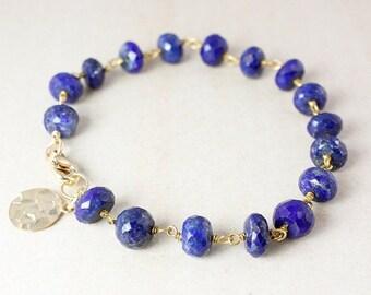 CHRISTMAS SALE Blue Lapis Charm Bracelet – Choose Your Charm