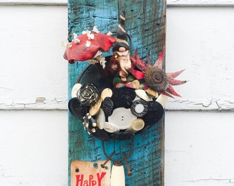 Mixed Media Sculpture Gnome