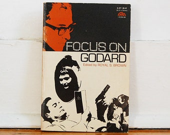 Vintage Book Focus on Godard 1972 Paperback Rare First Edition Out of Print Jean Luc Godard French New Wave Film.