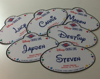 DCL Fish Extender Gifts - Personalized Name Tag Magnets - FE Gift- SET of 3
