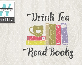 SVG Tea Themed Cutting File kwd143c dxf svg eps png