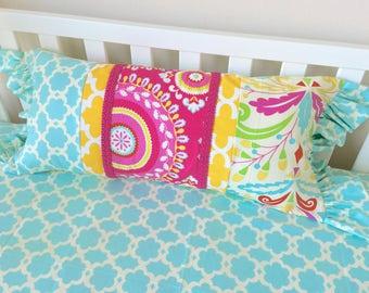 Medium Lumbar Pillow, Sujata Lumbar, Pink Accent Pillow, Mint Pillow, Children's Bedding Pillows, Girl's Pillows, Girl's Accent Pillows