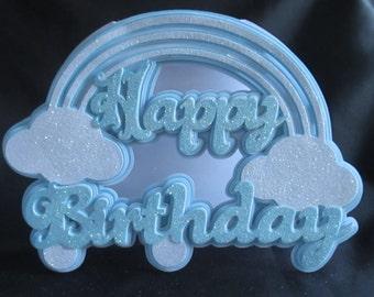 Rainbow Birthday Card, SVG,MTC,SCAL,Cameo,Cricut,ScanNCut
