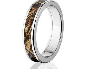 New Realtree Max 5 Camouflage Wedding Band Custom Camo Wedding Ring Realtree  Max 5 Camo Pattern