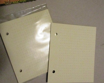 Dot Graph Paper Refill for 2 Ring Binder Journal Pages