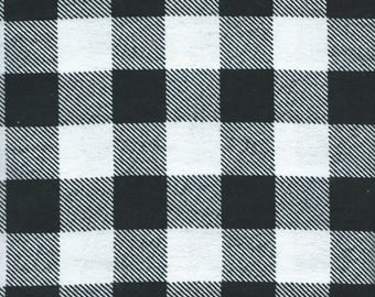 BLACK& WHITE FLANNEL Fabric, 1 yard  x 44 inches wide.  Brand new.
