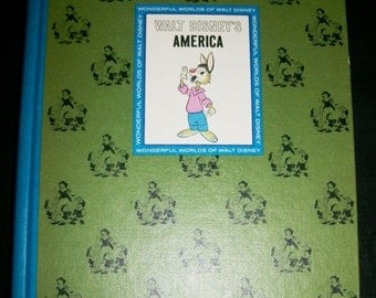 Vintage Walt Disney's America and Stories from Other Lands 2 Volumes Wonderful Worlds of Walt Disney