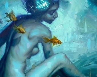Cosmic Ocean - Print of original oil painting