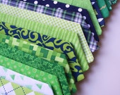 Little and Big Guy NECKTIE Tie - St. Patrick's Day Collection- Navy and Green - (Newborn-Adult) - Baby Boy Toddler Teen Man
