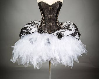 Size Medium Jack Skellington corset dress zombie Burlesque Corset Nightmare before Christmas SteamPunk