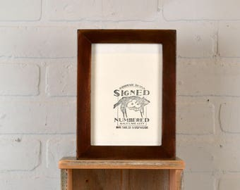 5x7 inch Picture Frame in 1x1 Flat Style with Vintage Mahogany Wood Tone Finish - IN STOCK - Same Day Shipping - 5 x 7 Photo Frame Brown