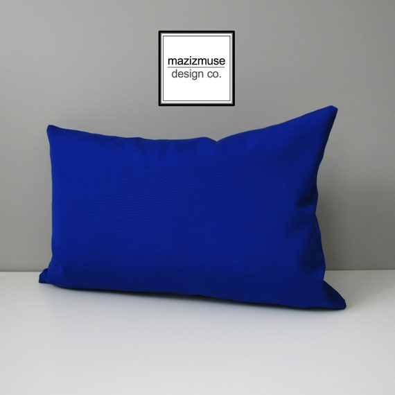 Royal Blue Outdoor Throw Pillows : SALE Royal Blue Outdoor Pillow Cover Decorative Sapphire