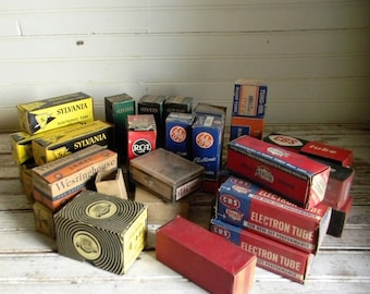 Vintage Radio Parts, Radio, TV Tubes, Huge Lot Radio Parts, Tubes Original Vintage Packaging, Vinatge Eelectronics Parts And Pieces, Lot