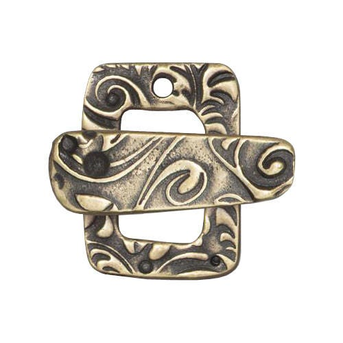Tierracast jardin clasp pewter with brass oxide finish for Jardin francais jewelry
