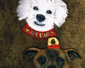 Reserved listing for Kelly Jerde for Custom Pet Ornaments