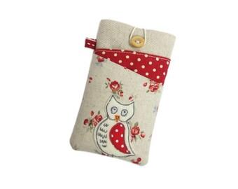 Owl Phone Case, S7 Edge Case, Moto G4 Plus, S6 Edge Case, Nexus 6, Note 5, Gift for Women, Samsung S6 Case, LG G5, Galaxy S8 Case