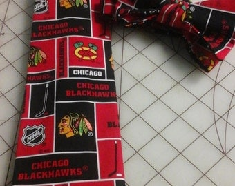 Chicago Blackhawks Neckties in bow tie, skinny tie or standard tie styles and kids or adult sizes