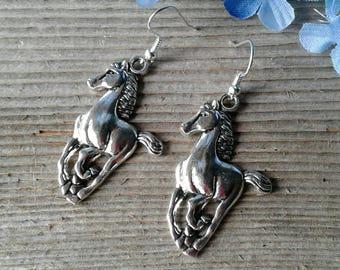Large Mustang Horse Earrings