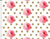 Custom Roses Gold Dot/Light Pink Minky/Light Pink Satin Ruffle Fancy Shopping Cart Cover for sweetmonkeytots