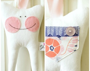 Tooth Fairy Pillow for a Girl (Dear Stella)-READY TO SHIP