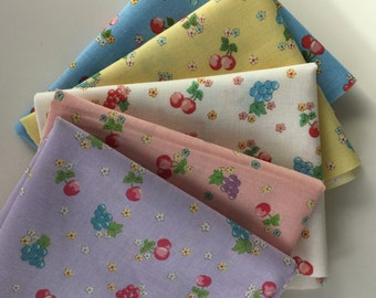 Yuwa Sunday 9 am Cutie Fruit bundle - Japanese zakka quilt fabric