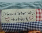 Friends listen with the heart