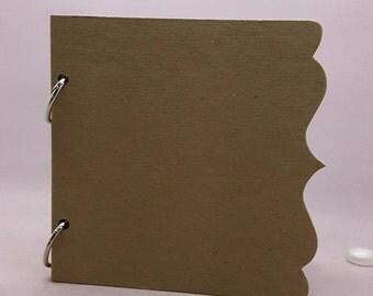 Chipboard Album-Kraft Bracket Scallop Edge